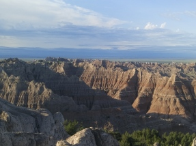 Pinnacles Overlook area in the Badlands National Park