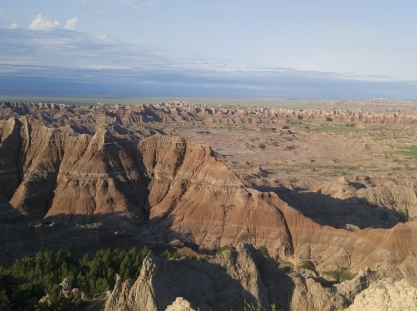 Near the Pinnacles Overlook in the Badlands National Park