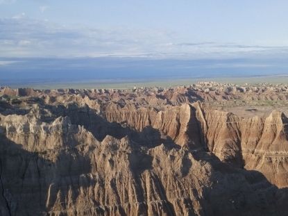Near the Pinacles Overlook in the Badlands National Park
