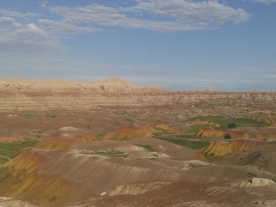 Yellow Mounds formations as seen from the Conata Basin Overlook.