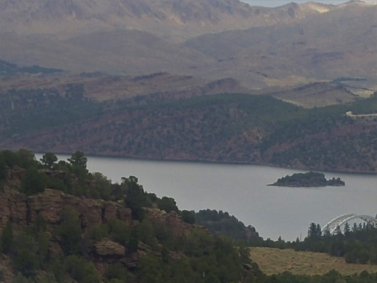 View of the reservoir at Flaming Gorge NRA, UT