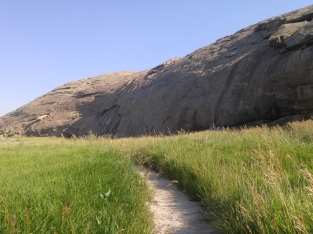 Trail at Independence Rock State Historic Site, WY