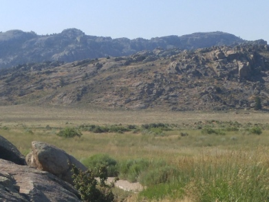 Prairie view at Independence Rock State Historic Site, WY