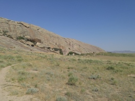 West side of rock at Independence Rock State Historic Site, WY
