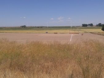 Reconstructed baseball field at Minidoka National Historic Site