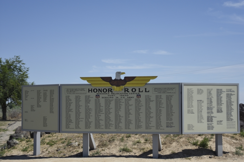 Honor Roll display at Minidoka National Historic Site