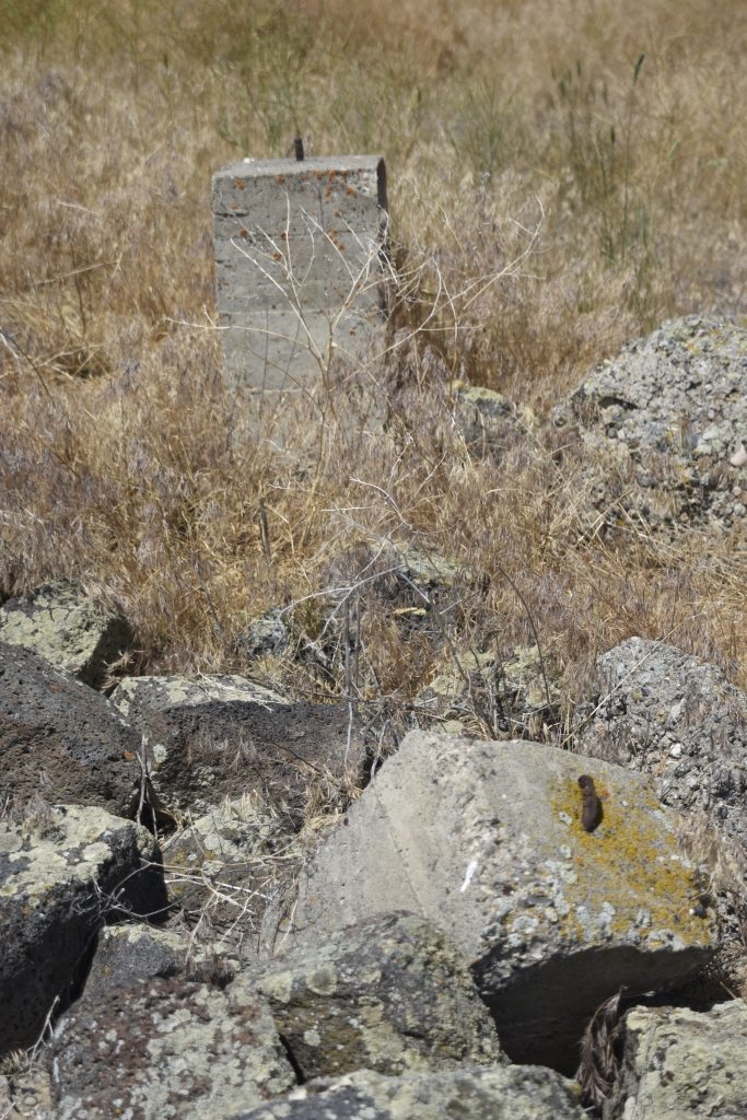 Remains of the warehouse corner stones