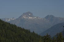 View of Crater Peak in North Cascades National Park. Jack Mountain is to the left.
