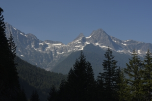 View of Pyramid Peak in the North Cascades National Park.