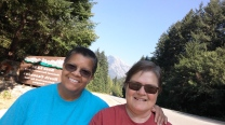Selfie at the entrance to Ross Lake NRA and North Cascades National Park.
