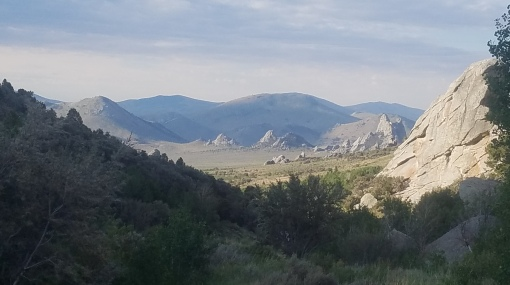 Circle Creek Basin from the west in City of Rocks National Reserve