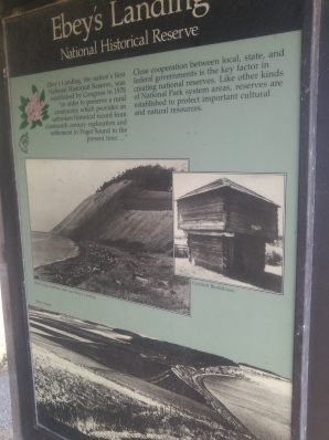 Exhibit discussing the importance of Ebey's Landing National Historical Reserve.