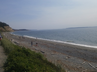View of bay at Ebey's Landing National Historical Reserve and State Park.