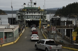 Loading the Ferry at Friday Harbor on San Juan Island, Washington.