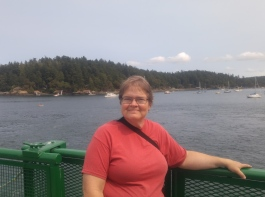 Standing on deck of the Anacortes/Friday Harbor Ferry.
