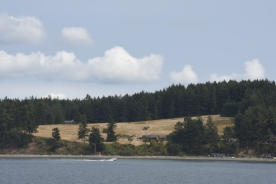 View from the deck of the Anacortes/Friday Harbor Ferry.