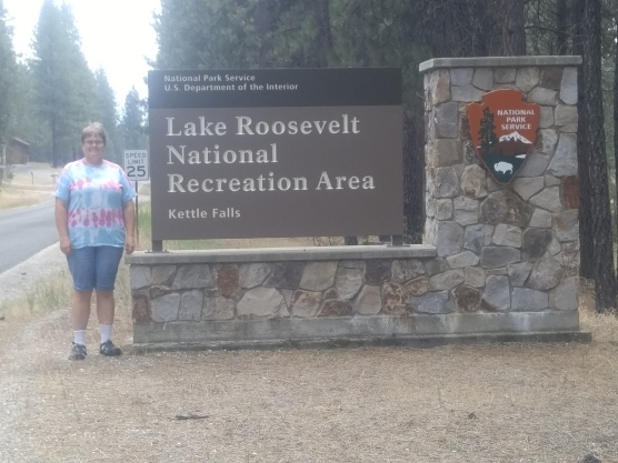 Entrance to Lake Roosevelt National Recreation Area.