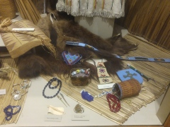 Museum exhibit in the Nez Perce National Historic Park visitor center