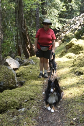 Happy Hikers on the Happy Panther Trail in the Ross Lake National Recreation Area
