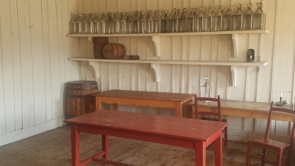 Kitchen in the Bakehouse at the Fort Vancouver National Historic Site.