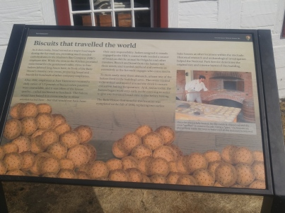 Display about the importance of sea biscuits at the Fort Vancouver National Historic Site.