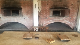 Brick ovens in the Bakehouse at the Fort Vancouver National Historic Site.
