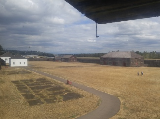 View from the Bastion (guardhouse) at the Fort Vancouver National Historic Site.