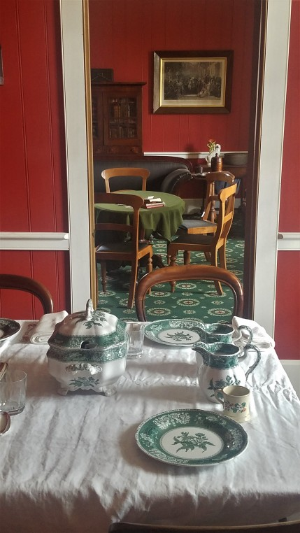 Dining and Sitting rooms in the Chief Factor's Residence at the Fort Vancouver National Historic Site.