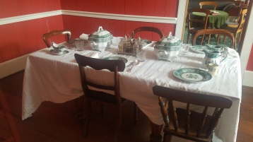Dining room in the Chief Factor's Residence at the Fort Vancouver National Historic Site.