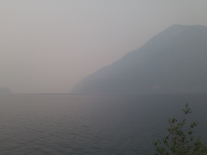 Crescent Lake on a smoky day. Olympic National Park