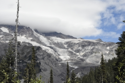 Nisqually Glacier. Mount Rainier National Park.