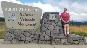 Entrance to Mount Saint Helens National Volcanic Monument.