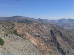 Johnston Ridge. Eruption blasted away soil and plants down to bedrock. Mount Saint Helens National Volcanic Monument.