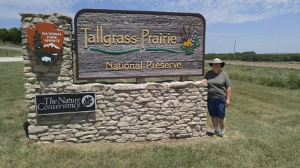 Entrance to Tallgrass Prairie National Preserve in Strong City, Kansas