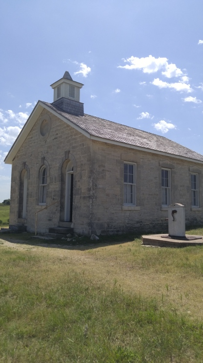 Lower Fox Creek Schoolhouse at the Tallgrass Prairie National Preserve.