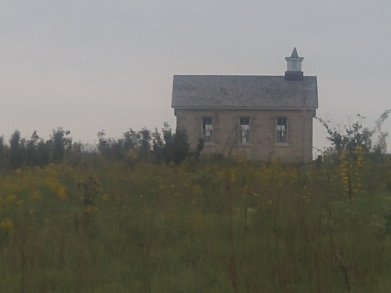 Lower Fox Creek Schoolhouse in September. Tallgrass Prairie National Preserve.