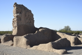 Some of the other structures in Compound A at the Casa Grande Ruins National Monument.