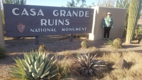 Entrance to the Casa Grande Ruins National Monument.
