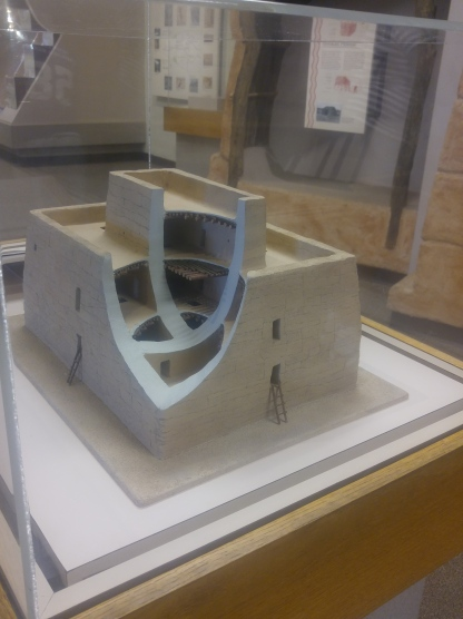 A cut away view of the Great House in the visitor center. Casa Grande Ruins National Monument.