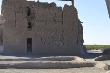 Side view of the Great House. Casa Grande Ruins National Monument.
