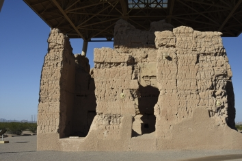 Rear view of the Great House. Casa Grande Ruins National Monument.