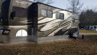 Skirted RV